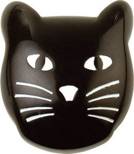 L'AGAPE - bouton de tiroir chat noir - Bouton De Meuble Enfant