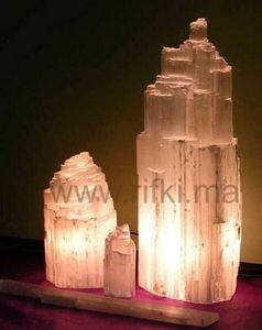 Minéraux et fossiles Rifki - iceberg - Lampe À Poser