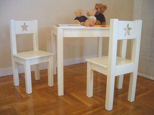 GRIS ALBA DECORACION - silla sena - Chaise Enfant