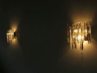 FURNITURE-LOVE.COM - pair of kalmar glass sconces light sculpture - Applique