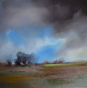 www.maconochie-art.com - ink trees 3 - Huile Sur Toile Et Huile Sur Panneau