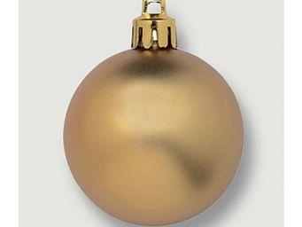 Deko Woerner - weihn.kugel 6cm matt gelbgold,schw.ent/z - Boule De Noël