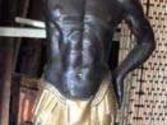 La Farfouille - nubien en bronze - Statue