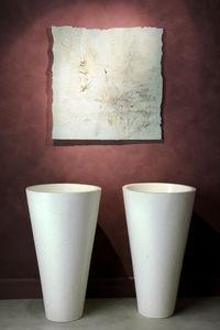Stil Bain - cône robinetterie murale - Lavabo Sur Piétement