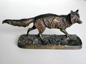 OLIVIER - renard - Sculpture Animalière