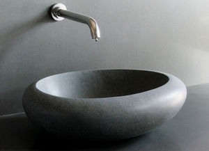 LIVING'ROC - vasque en pierre cocoon - Vasque À Poser