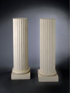 Bauermeister Antiquités - Expertise - paire de colonnes cannelées - Colonne