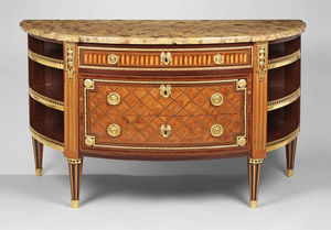 F P FINE ART - commode a l'anglais - Commode Demi Lune