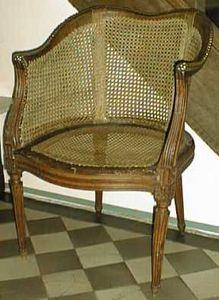 Antiquit�s ARVEL - fauteuil cabriolet louis xvi - Fauteuil Cabriolet