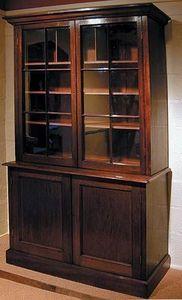 BAGGOTT CHURCH STREET - padoukwood four door book/ display cabinet - Armoire Vitrine