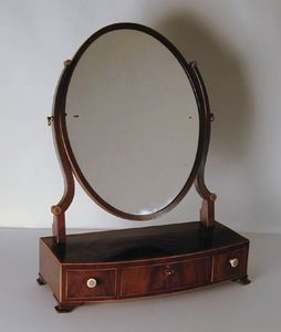BAGGOTT CHURCH STREET - sheraton mahogany bowfront dressing mirror - Coiffeuse