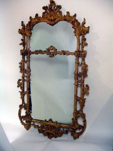 Brookes-Smith - chippendale style carved mirror - Miroir