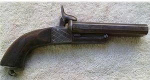 ANTIG�EDADES LINARES - pistola lefaucheux a�o 1875 - Carabine Et Fusil