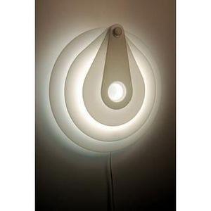 Decogalerie - lampe target blanche - Applique De Bureau
