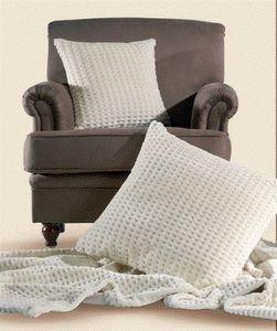 Ambassador Textiles - cream waffle - Tissu D'ameublement