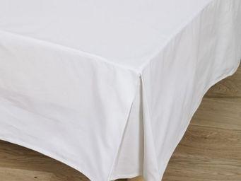 Tradition des Vosges - cache-sommier bachette coton blanc - Cache Sommier