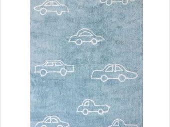 LILI POUCE - tapis voitures bleu tapis pour enfant color� 100%c - Tapis Enfant