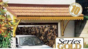 JARDIPOLYS - auvent porte de garage 3,25x1,20m - Marquise (auvent)