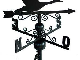 BARCLER - girouette oies sauvages en fer forg� avec arabesqu - Girouette