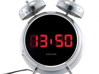 Karlsson Clocks - karlsson - r�veil digibell - karlsson - gris - R�veil Matin