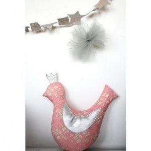 CREME ANGLAISE - cr�me anglaise - coussin hochet mini royal bird ro - Mobile Enfant