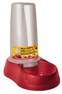 ZOLUX - distributeur eau et nourriture rouge anti-dérapant - Gamelle