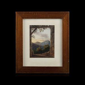Expertissim - adélaïde de poliet. vue d?un paysage montagneux - Paysage