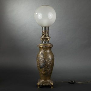 Expertissim - lampe en bronze napol�on iii - Lampe � P�trole