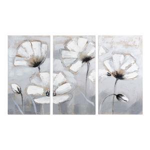 Maisons du monde - triptyque fleurs catherine - Pêle Mêle