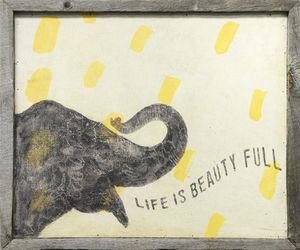 Sugarboo Designs - art print - smart elephant - Tableau D�coratif