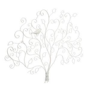 Maisons du monde - pince photo arbre oiseau blanc - Porte Photo