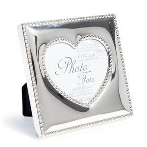 MAISONS DU MONDE - cadre carré coeur perle - Cadre Photo