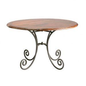 MAISONS DU MONDE - table à dîner ronde lubéron - Table De Repas Ronde