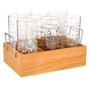 Maisons du monde - panier 6 verres natura - Verre