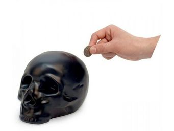 Manta Design - tirelire design crâne noire - Tirelire