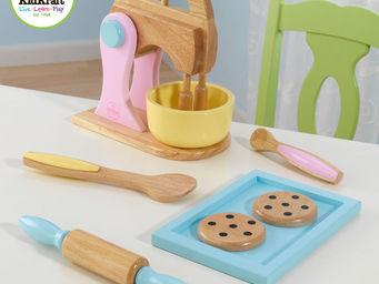 KidKraft - accessoires de p�tisserie en bois pastel - Jouets De Poup�e