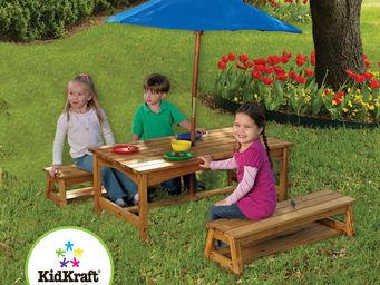 KidKraft - table et bancs de pique-nique pour enfant avec par - Aire De Jeux
