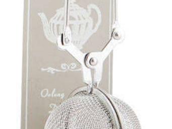 BARCLER - boule � th� avec support cr�me en m�tal 6,7x9x21cm - Cuill�re � Th� Infuseur