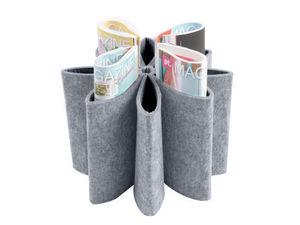 Euraipt's - porte revues flower en feutrine grise 33x23cm - Porte Revues