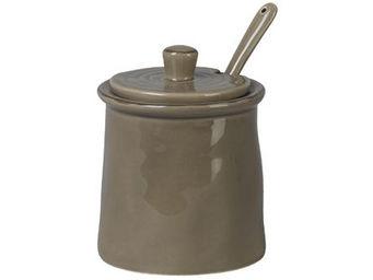 Athezza - pot confiture cotta taupe h11,5cm - Pot � Confiture