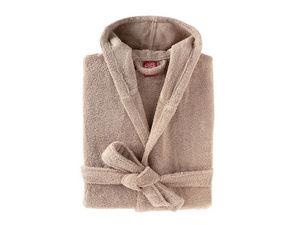 BLANC CERISE - peignoir capuche - coton peigné 450 g/m² sable - Peignoir De Bain