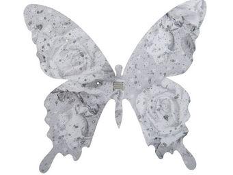 Mathilde M - papillon � pince roses - D�cor �v�nementiel