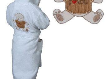 SIRETEX - SENSEI - peignoir enfant brodée bibou - Peignoir Enfant