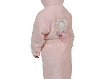 SIRETEX - SENSEI - peignoir enfant brodé doudou rabbit rose - Peignoir Enfant