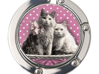 Orval Creations - porte-sac rond chats amoureux - Accroche Sac