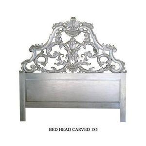 DECO PRIVE - tete de lit en bois argente modele carved 200 cm - Tête De Lit
