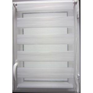 Luance - store lumière et nuit blanc 45x180cm - Store Enrouleur