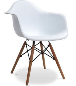 Charles & Ray Eames - chaise eiffell aw blanche charles eames lot de 4 - Chaise Réception