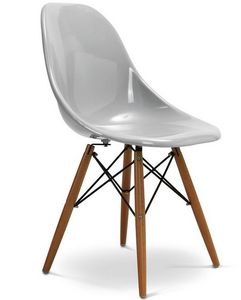 Charles & Ray Eames - chaise grise design eiffel sw charles eames lot de - Chaise Réception
