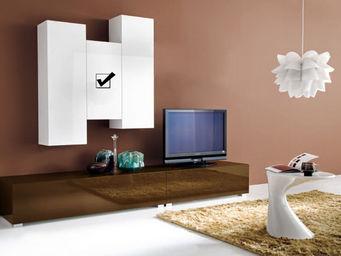 ACHATDESIGN - meuble tv mural vertical s blanc - Meuble De Salon Living
